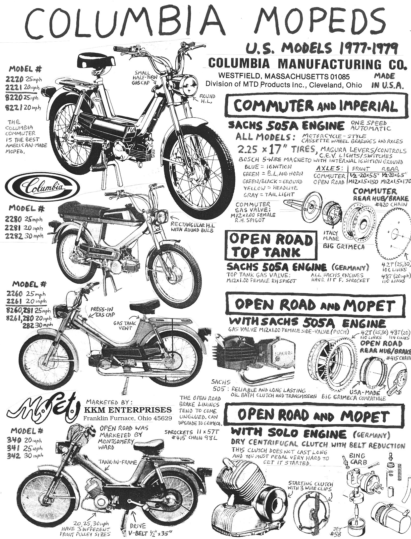 colombia parts � myrons mopeds info columbia 1  1977 sachs moped wiring  diagram
