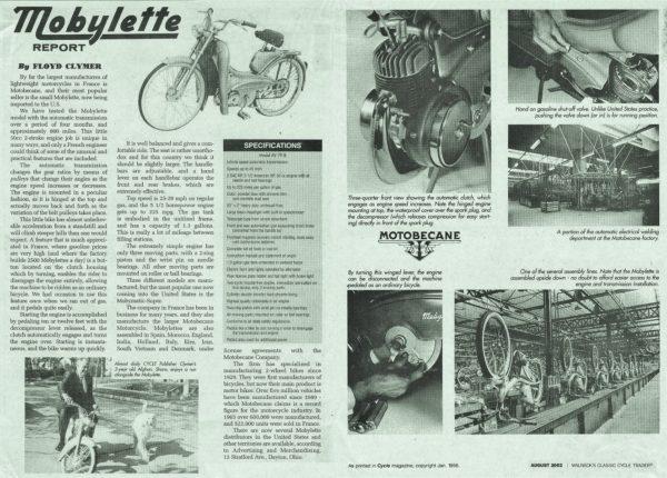 1956 Motobecane Floyd Clymer article