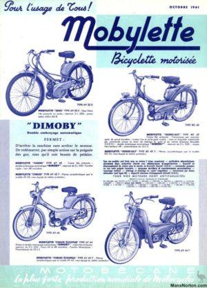 1961 Motobecane brochure