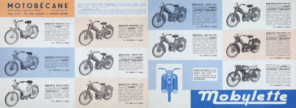 1964 Mobylette brochure