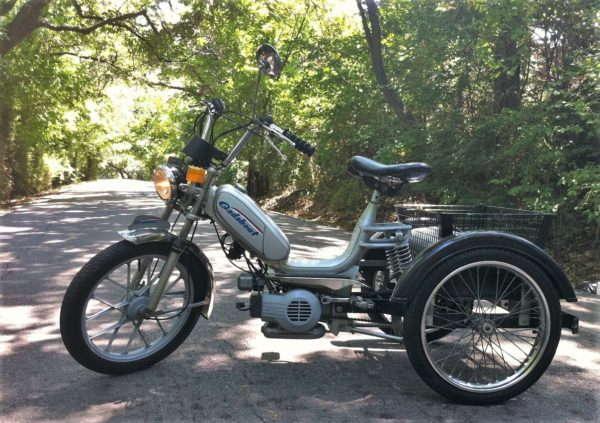 A 1978 Gadabout trike is a moped