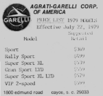 1979 Garelli Models