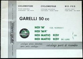 1981 Garelli Noi Parts Catalog