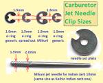 E-clips for jet needles