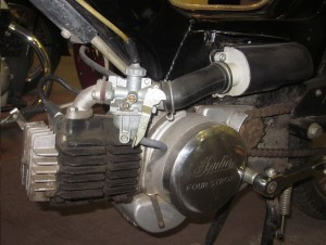 Indian with Keihin carb intake bolts face less outward