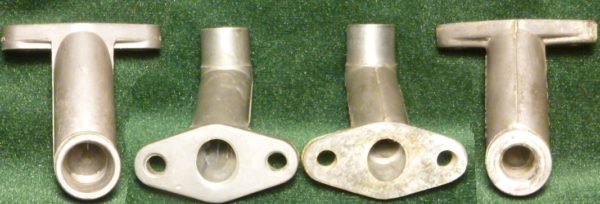 Minarelli V1 center mount intake pipes
