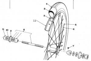 Solex Parts 14 Front Wheel