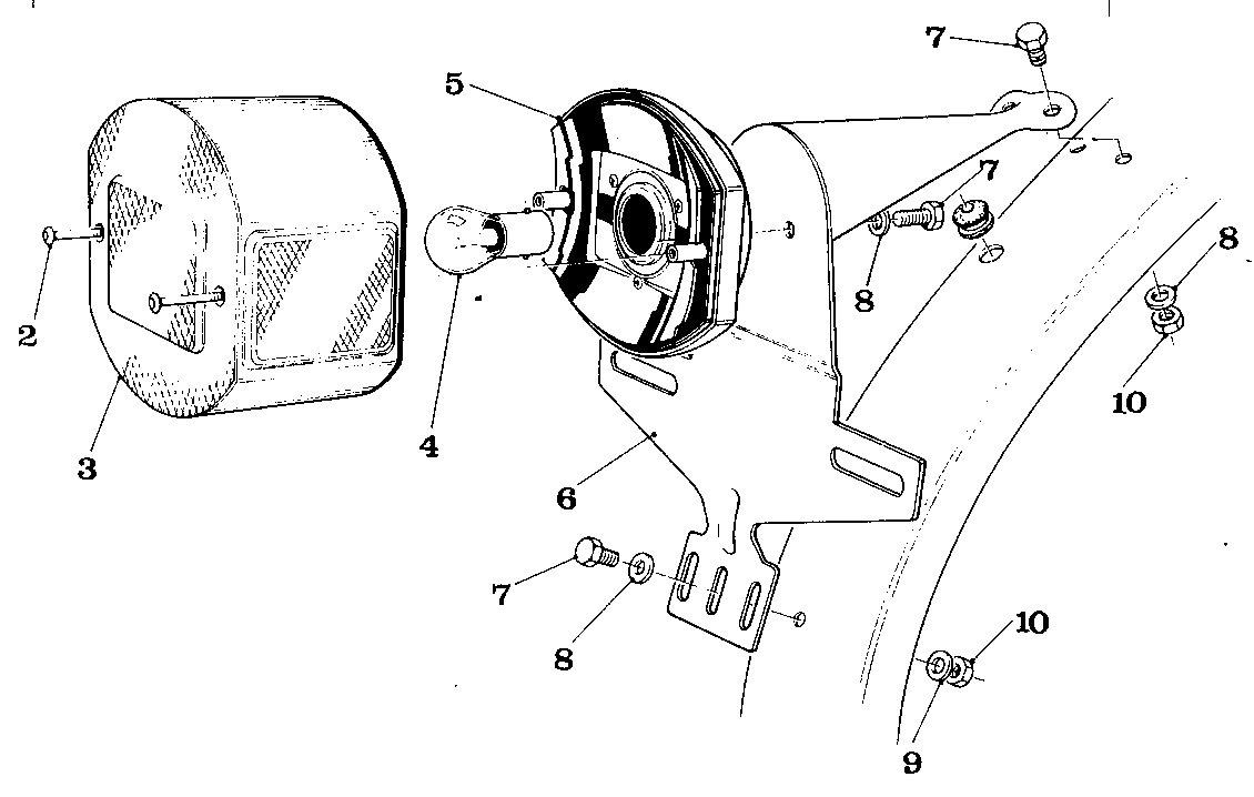 Solex Parts Myrons Mopeds Pocket Bike Engine Diagram 17a 4600 Usa Only Cev Tail Light