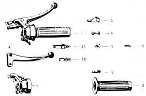 Solex Parts Figure 9b Right Handlebar Controls