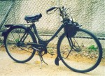"This 1949 Solex has 23"" rims with ""650B"" or ""26 x 1-1/2"" tires. Notice 23 = 26 - 2*1.5"