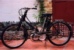 "This 1952 Motobecane AV32 has 20"" rims. Orig tires say ""600x50B Michelin 24x1-1/2 x 2"" Notice 20 = 24 - 2*2.0"