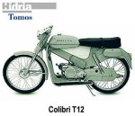 "This '62 Tomos Colibri T12 has 19"" rims, with ""23 x 2.25"" tires."