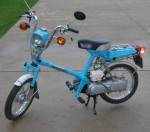 "This 1981 Honda NC50 Express has 14"" rims. Tires say ""2.25 - 14"""
