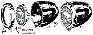 CEV headlight 2139