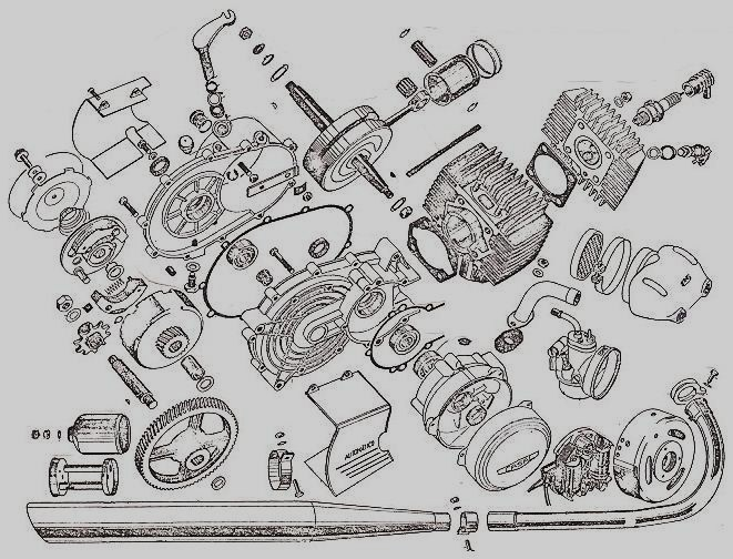 honda z50 engine exploded view