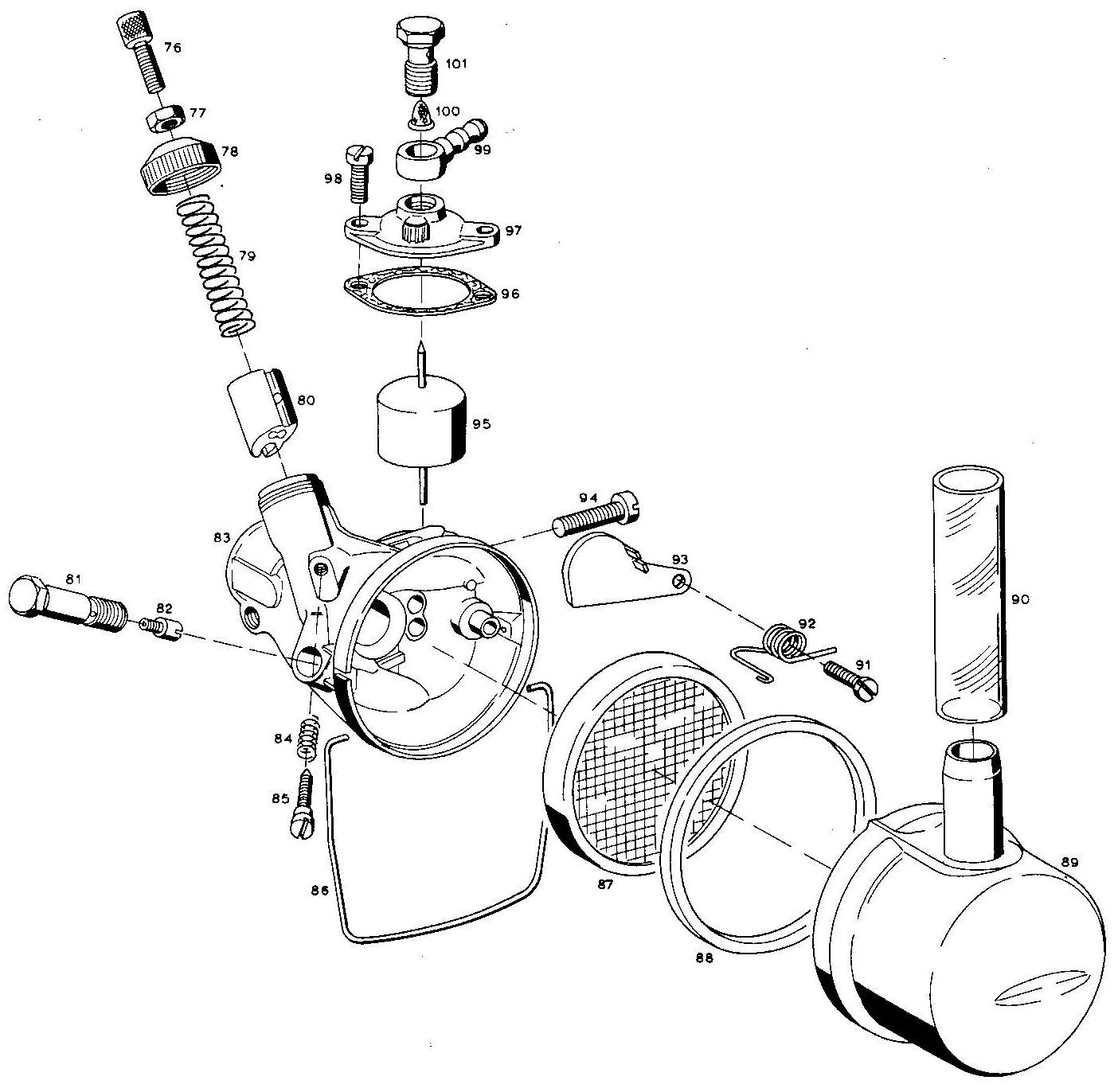 1972 Anker Laura M48 carburetor