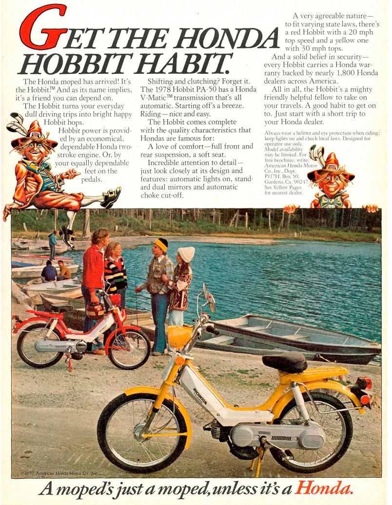 1977 Honda Hobbit Magazine Ad honda benelux myrons mopeds 1978 honda hobbit wiring diagram at eliteediting.co