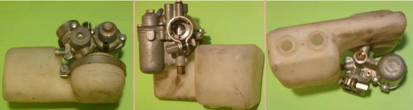Gurtner AR1-12 carburetor complete 3 views