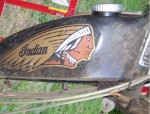1978 Indian AMI50 black with spoke wheels They rust easily.