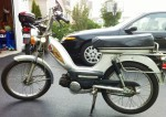 1978 Indian AMI50 white with spoke wheels Indian head logo on tank no other stickers