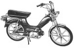 1979 Indian AMI50 silver Sport Mag II whls with cool color stripes (from 1981 accessories catalog cover)