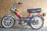 "1979 Indian AMI50 black with warm stripes silver Mira ""snowflakes"""