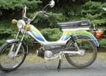 1979 Indian AMI50 white with spoke wheels with cool color stripes gold script on sides