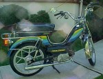1980 Indian AMI-50 black with cool stripes silver Mira snowflake whls
