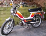 1980 Indian AMI-50 white with Mira wheels warm color stripes
