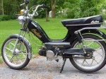 1981 Indian AMI50 black with gold script Mira snowflake wheels