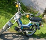1981 Indian AMI50 white with cool stripes Mira aluminum wheels
