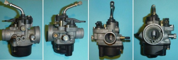 Dellorto PHVA14 Tomos A55 carburetor four views