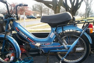 1990 Tomos Bullet TS turn signals, premix gas/oil VY2A3312#K######