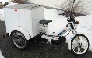 1992 Tomos A35 Bullet pizza trike