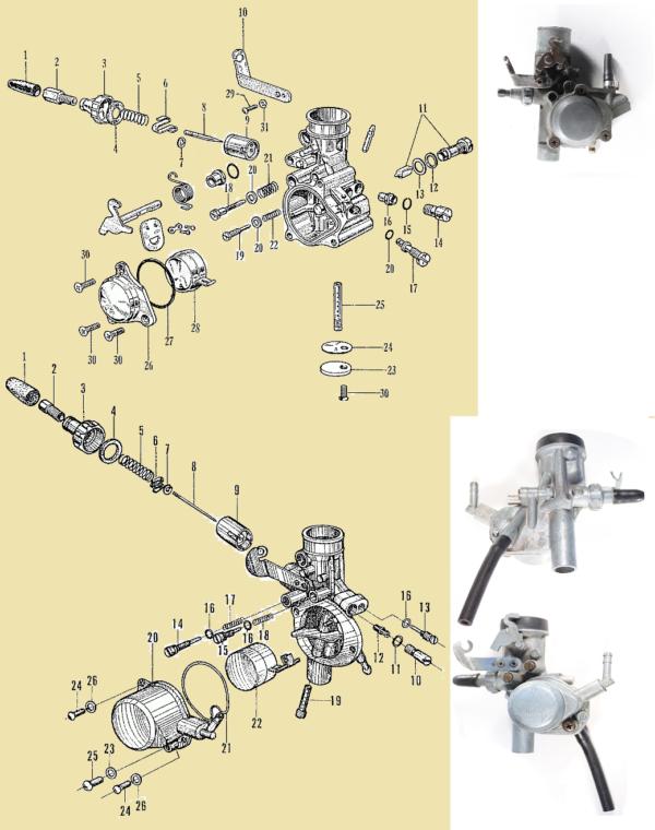 Carburateur Bing 12/mm for Puch Maxi Z/ündapp//SP etc r/éplique