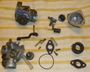 Honda late PC50 carb disassembled