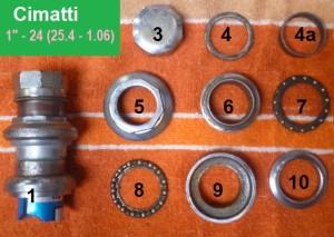 "Cimatti set, 1""-24 thread, 30.2 cups"