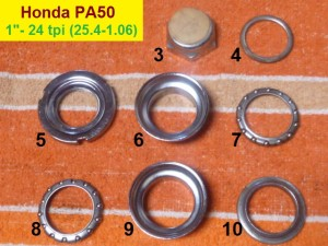 "Honda PA50 set, 1""-24 thread, 30.0 cups"