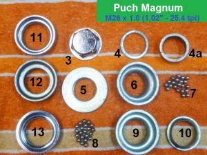 Puch Magnum set, 26-1.0 thread, 32.6 cups