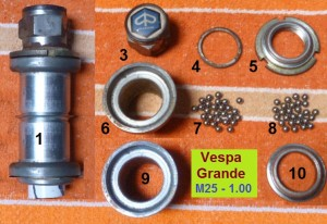 Vespa Grande set, 25- 1.0 thread, 33.0 cups
