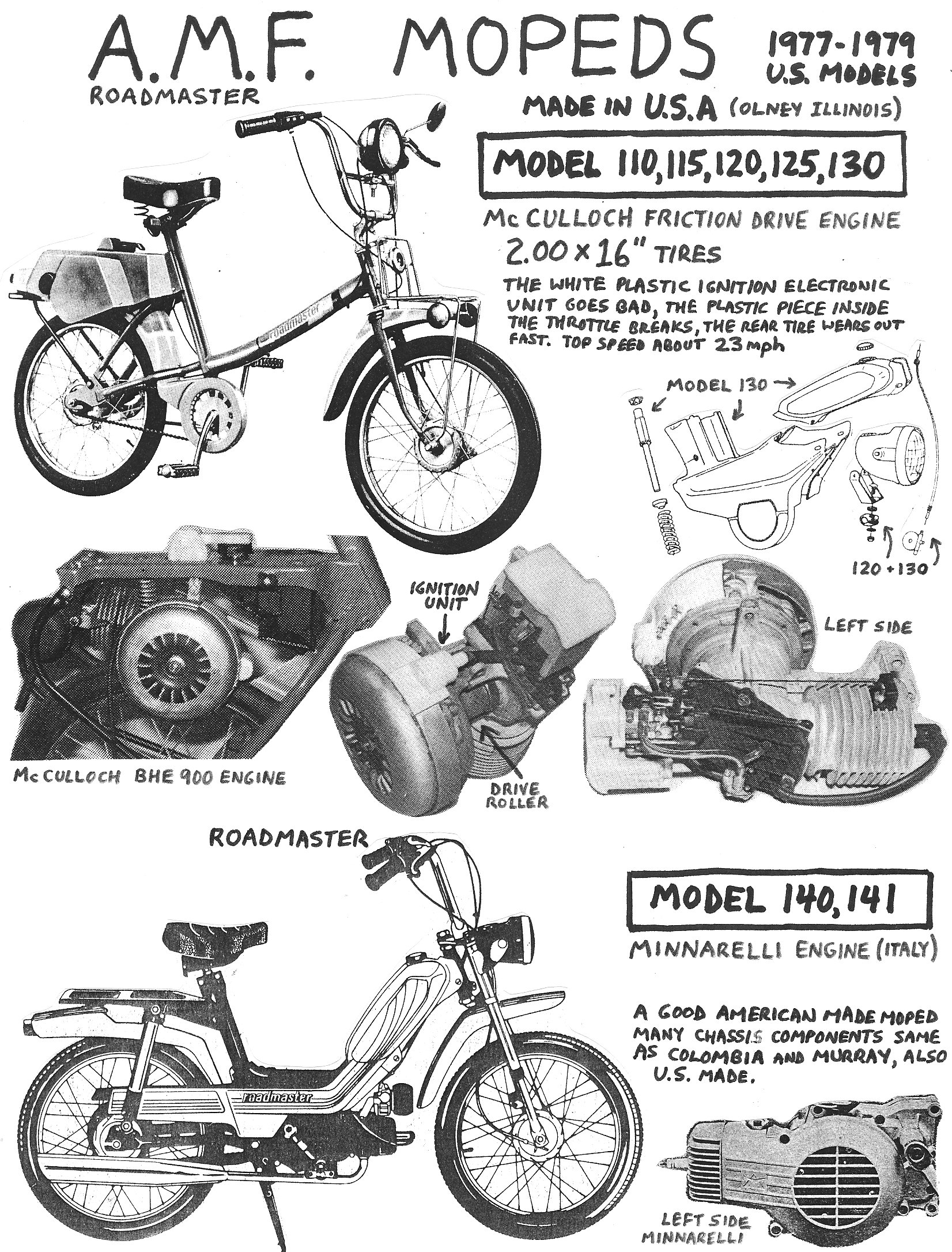 AMF Roadmaster McCulloch BHE 900 Engine Service Manual