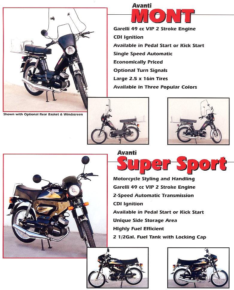 avanti parts myrons mopeds info avanti color 2