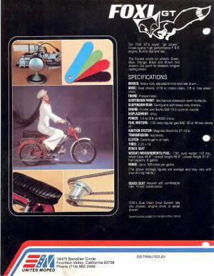 Info Foxi GT Specs