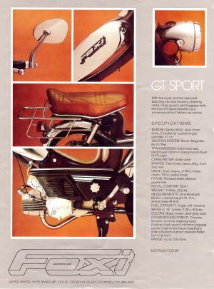 Info Foxi GT Sport Specs
