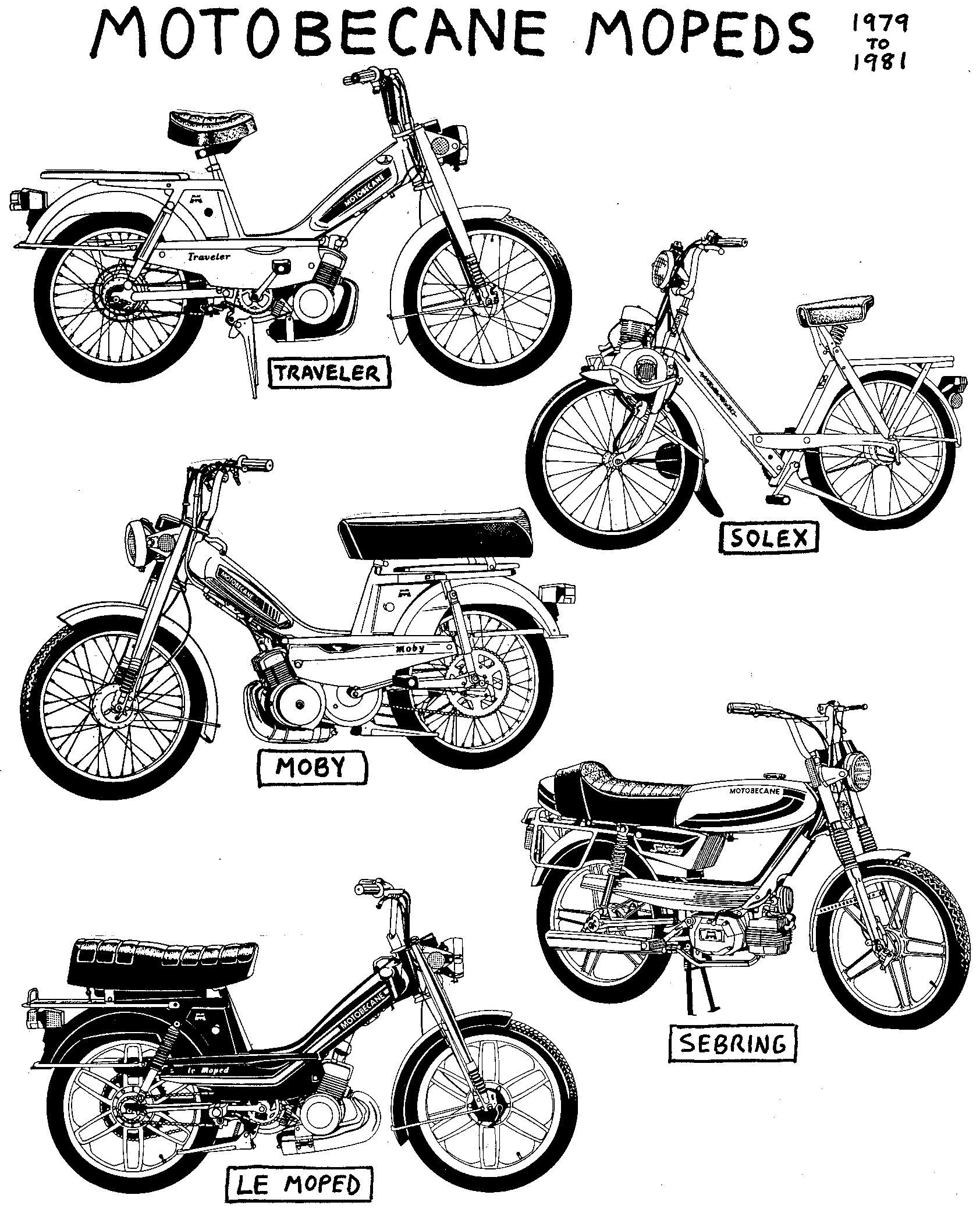 vintage 1976 motobecane 50cc mobylette moped motorini