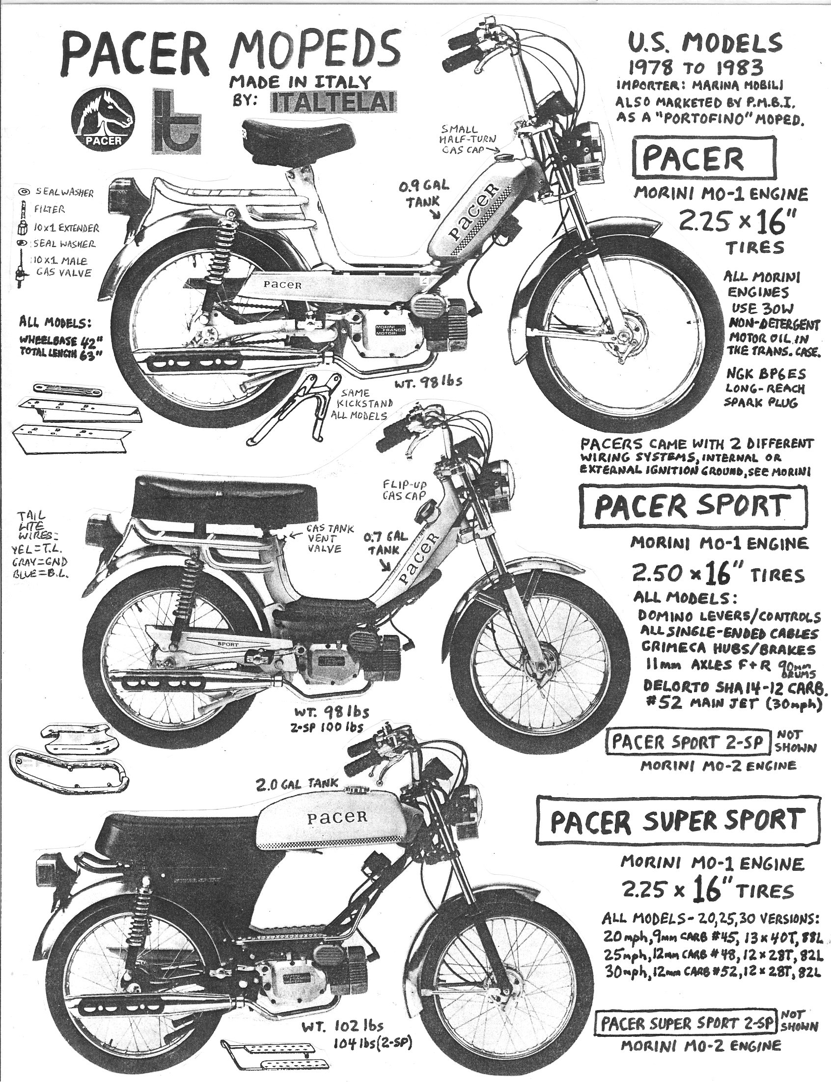 Majestic Honda Parts >> Pacer Parts « Myrons Mopeds