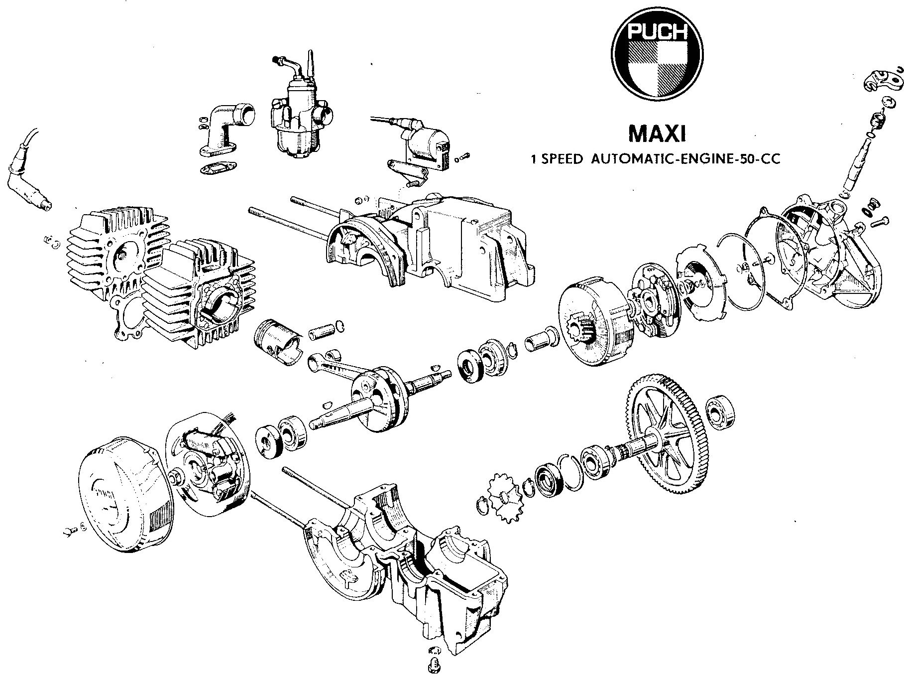 Puch Engines on moped carburetor diagram