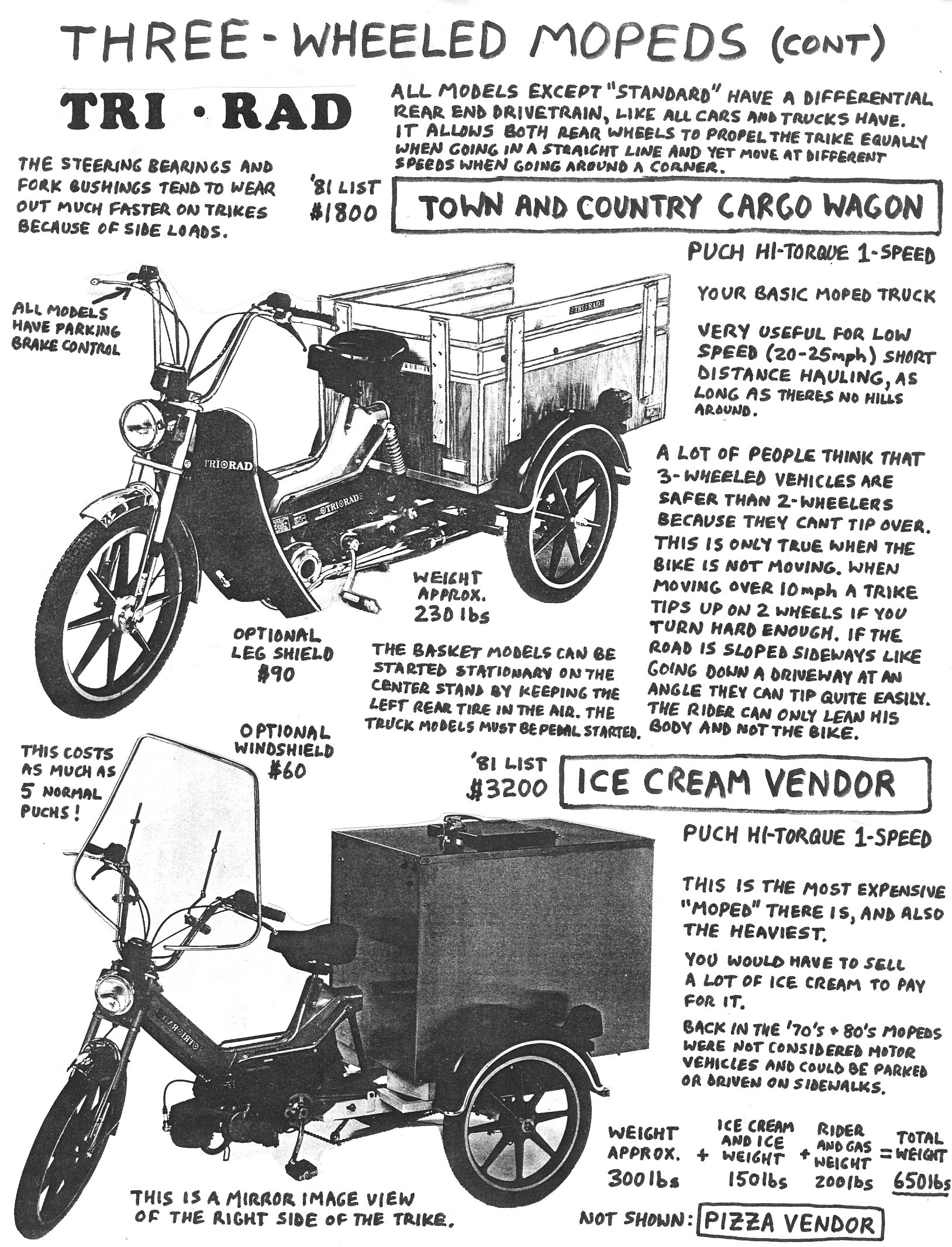 American Made Moped Parts Myrons Mopeds 1954 Allstate Scooter Wiring Diagram Info Three Wheeler 3