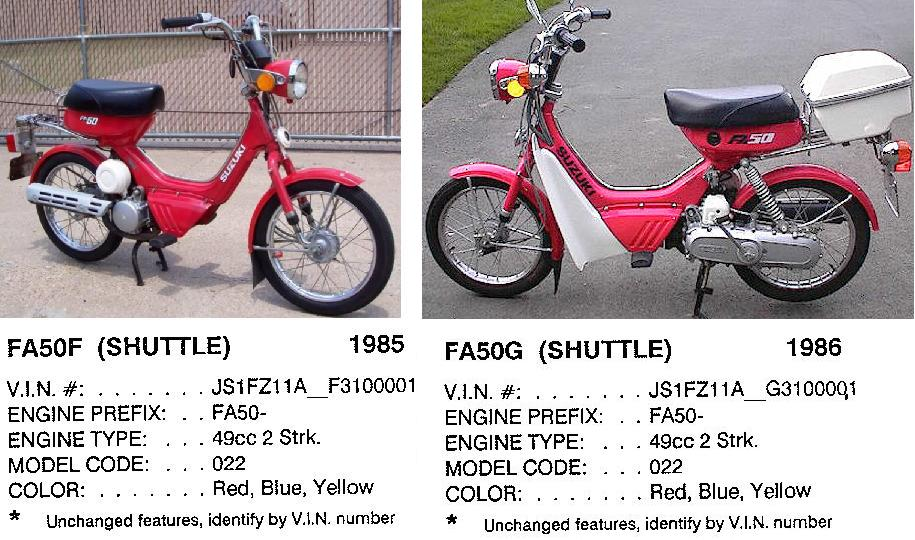 Suzuki 1985 86 USA models suzuki myrons mopeds suzuki fa50 wiring diagram at gsmportal.co