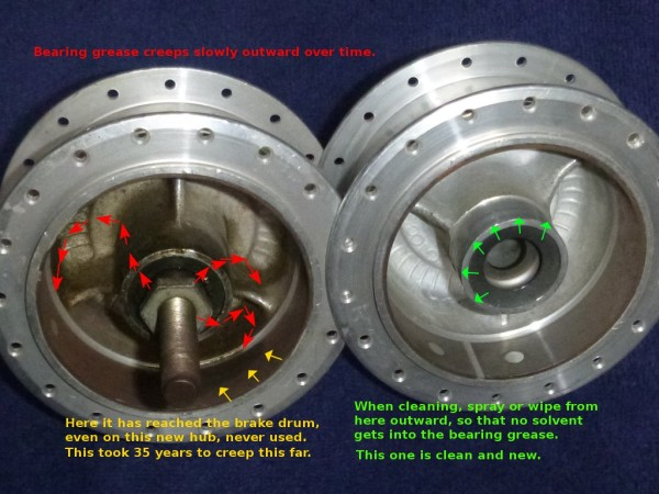 moped brake service oil cleaning